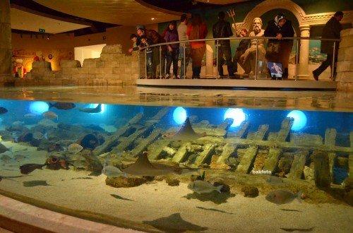 Yenikapı'da bulunan batık replikası