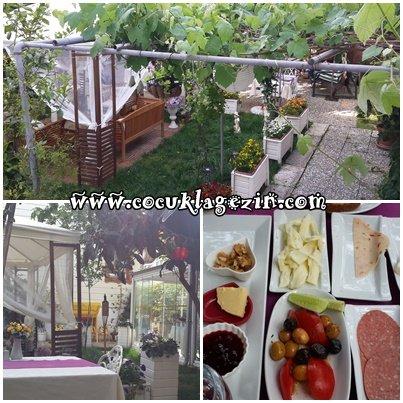Ada Palas Butik Otel bahçesi ve kahvaltı