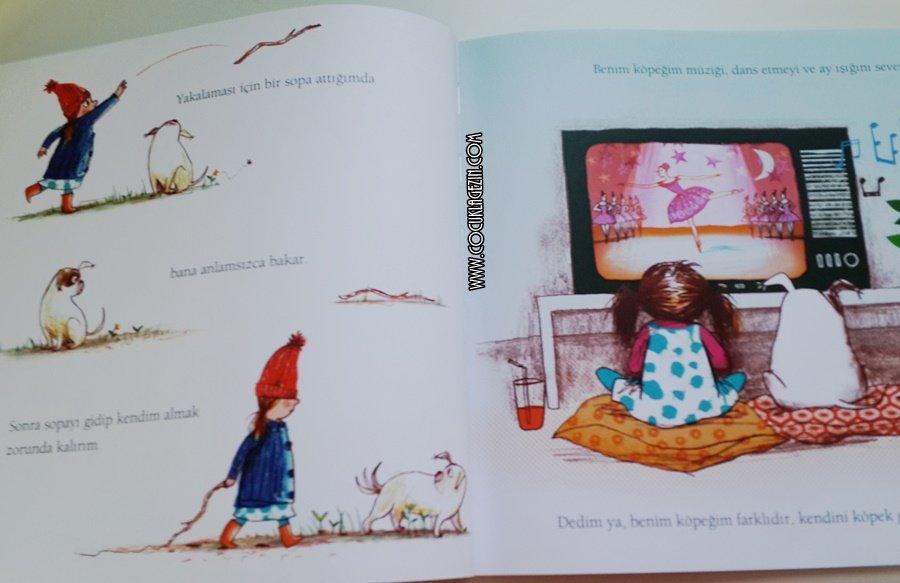 Bu köpek farklıdır. Televizyon seyreder, dans etmeyi sever, kedileri kovalamaz. Çocuk kitabı- Köpekler Bale Yapmaz bize inceden kalıpları atın çıkarın içinizdeki cevheri diyooor