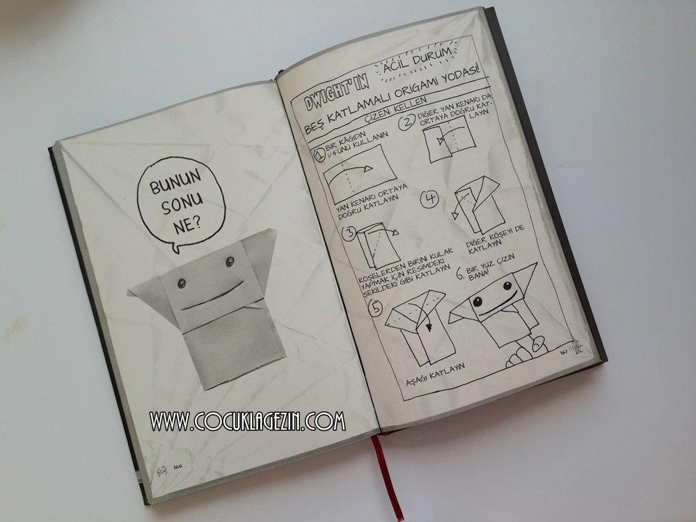 Kitapta yer alan Yodanın origami anlatımı. Darth Paper'ınkini merak ediyorsanız hemen bir arka sayfada ;)