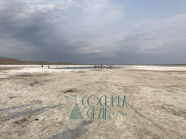 Gökçeada Tuz Gölü ve manzarası