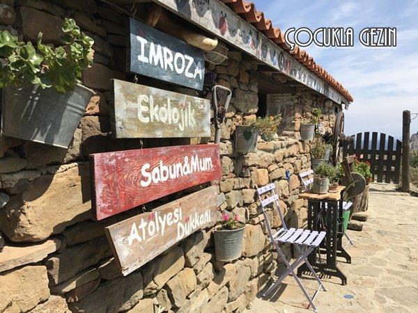 Doğal ada sabunlarını Kaleköy'de bulunan İmrozdan alabilirsiniz.